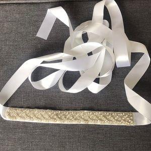 Silver wedding belt